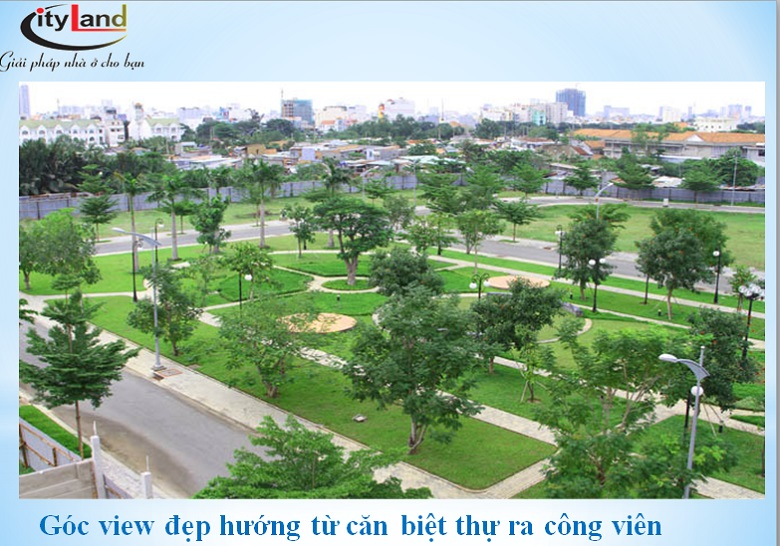 Công viên cây xanh tại dự án Cityland Riverside