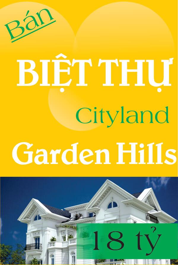 Bán biệt thự Cityland Garden Hills