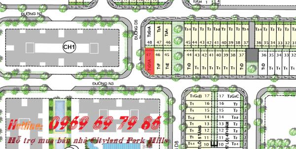 Bán nhà phố góc đường Cityland Park hills L18 - 47 - Nam-Tây