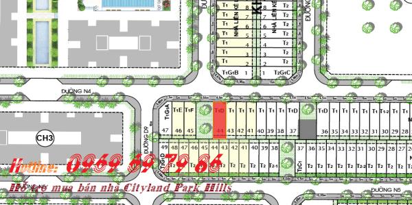 Bán nhà phố góc công viên Cityland Park hills L24 - 44 - Bắc-Tây